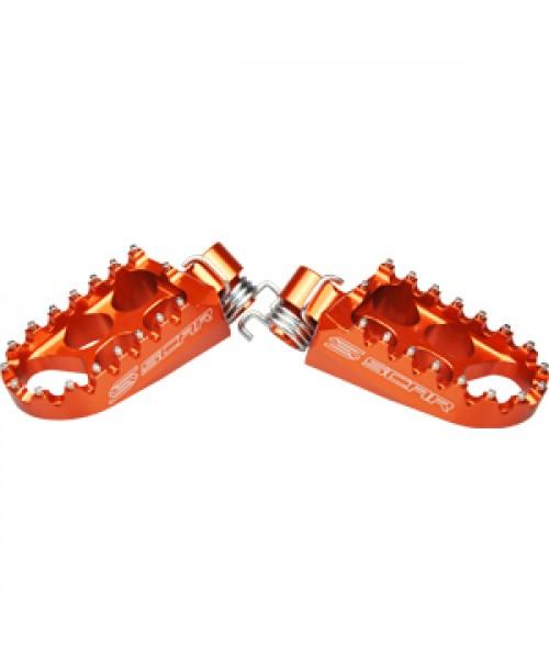 SCAR Standard Footpegs KTM / Husqvarna - Orange