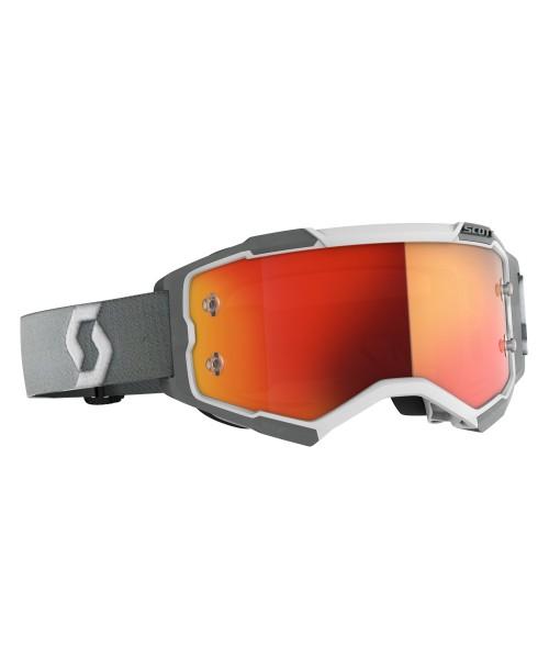 Scott Goggle Fury White/Grey / Orange Chrome Works