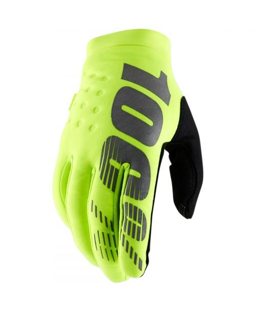 100% Brisker Cold Weather Gloves Flo Yellow / Black