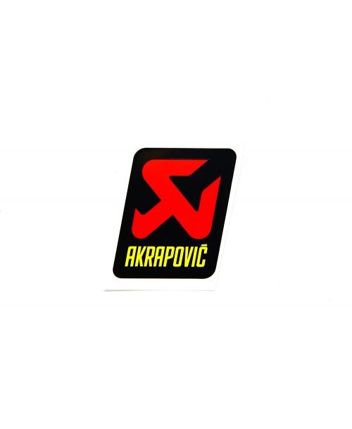 Akrapovič Exhaust Sticker Vertical Heat Resistant 75x75mm