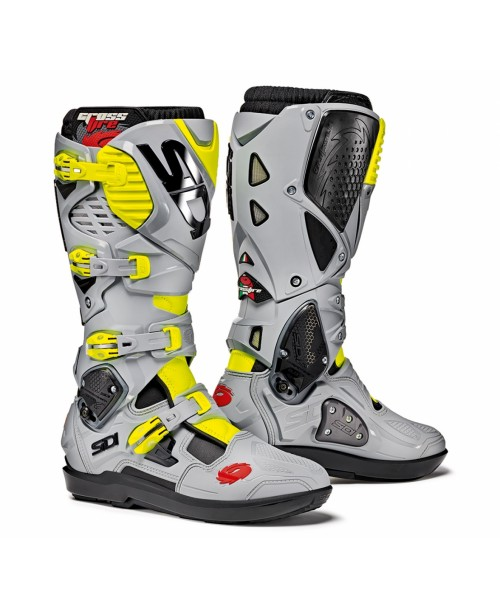 Sidi Boots CROSSFIRE 3 SRS Black / Ash / Yellow Fluo