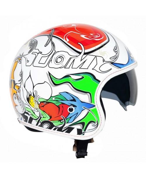 Suomy Helmet JET 70's White Drake