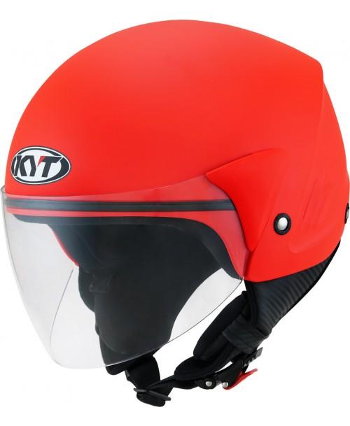 KYT Helmet Cougar Plain Matt Red