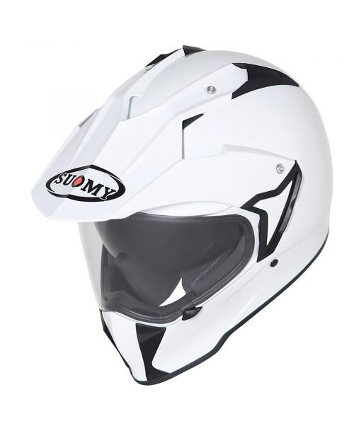 Suomy Helmet MX TOURER Plain White
