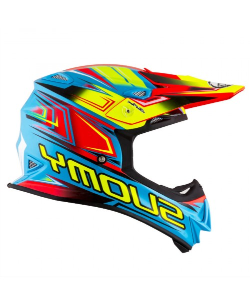 Suomy Helmet MR JUMP Start Cyan / Fuxia