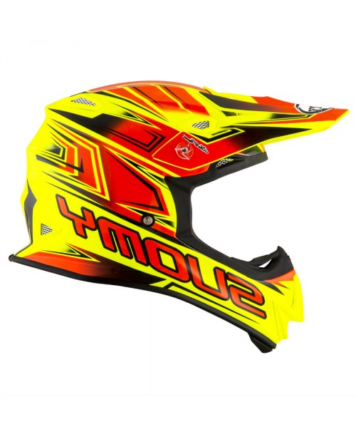 Suomy Helmet MR JUMP Start Yellow Fluo / Red