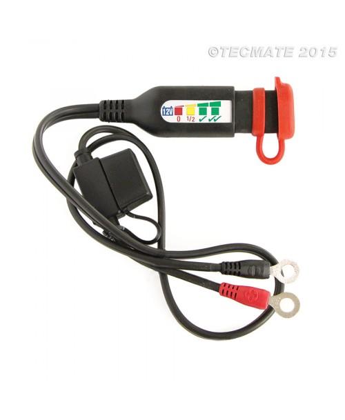 TecMate OptiMATE Monitor, Battery Lead 12V