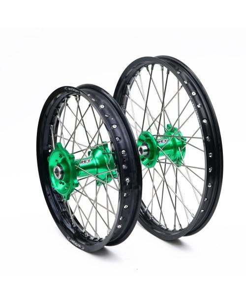 2100037 / 2120037 REX WHEELS  KX/KXF motokrosa riteņu kompl.