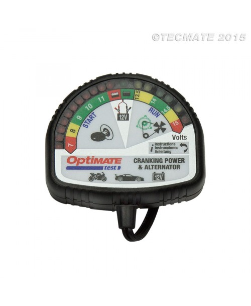 Tecmate Battery Tester OptiMate - Cranking Power & Alternator
